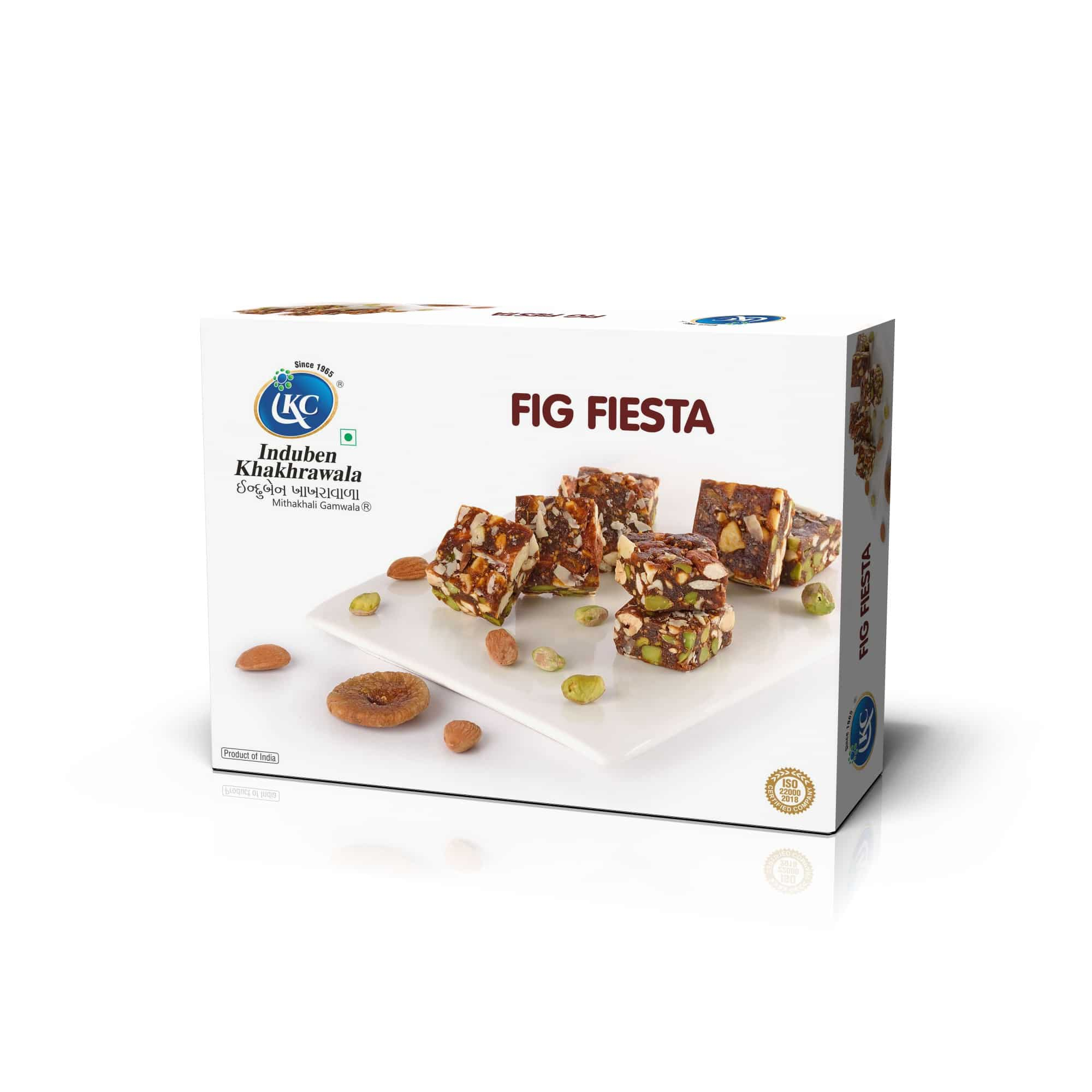 Buy Online Fig Fiesta - Sugar-Free | Induben Khakhrawala | Traditional Indian Sweets From Induben, Get Latest Price & Recipe Of Fig Fiesta Sweets.
