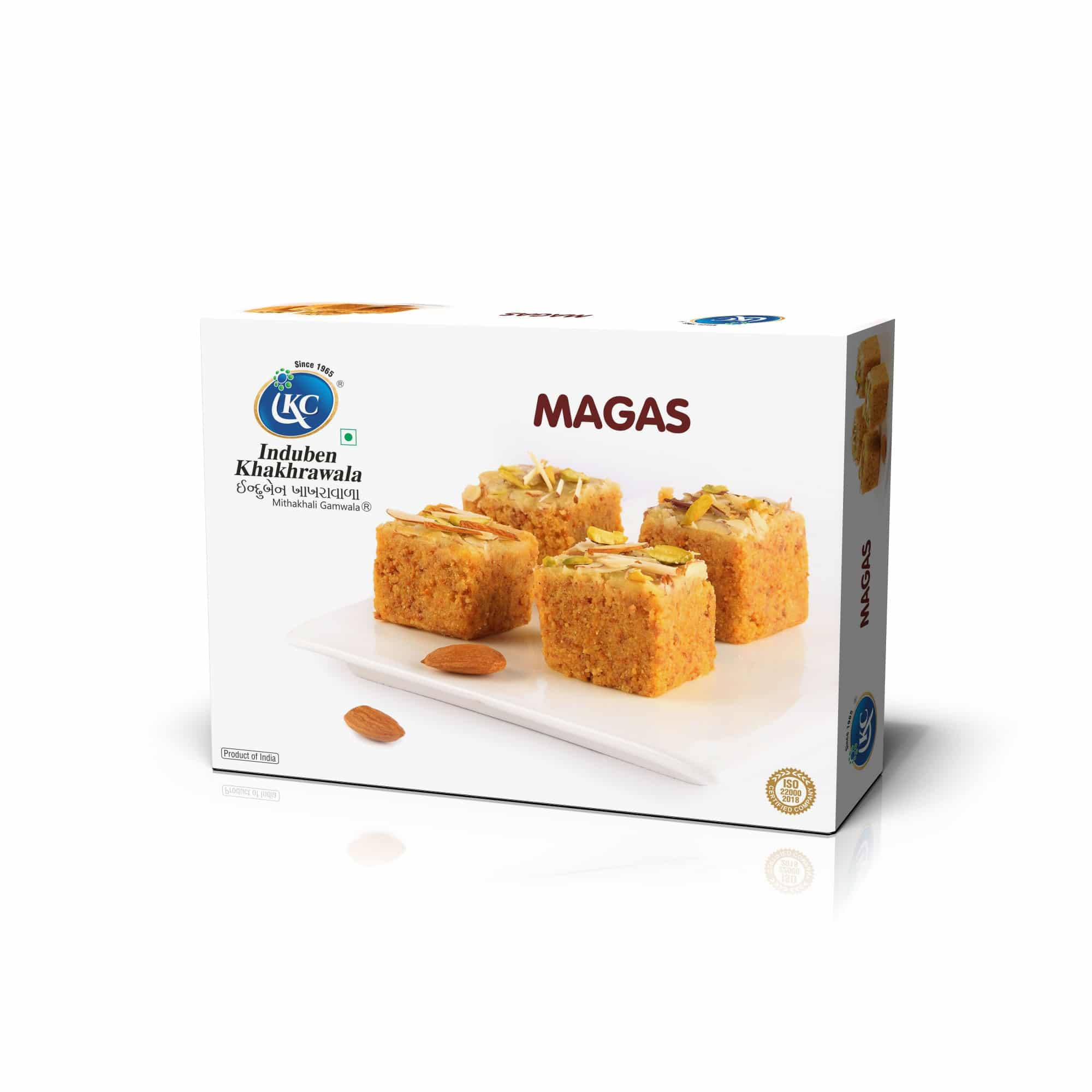 Buy Online Magas | Induben Khakhrawala | Traditional Indian Sweets From Induben, Get Latest Price & Recipe Of Magas Sweets.