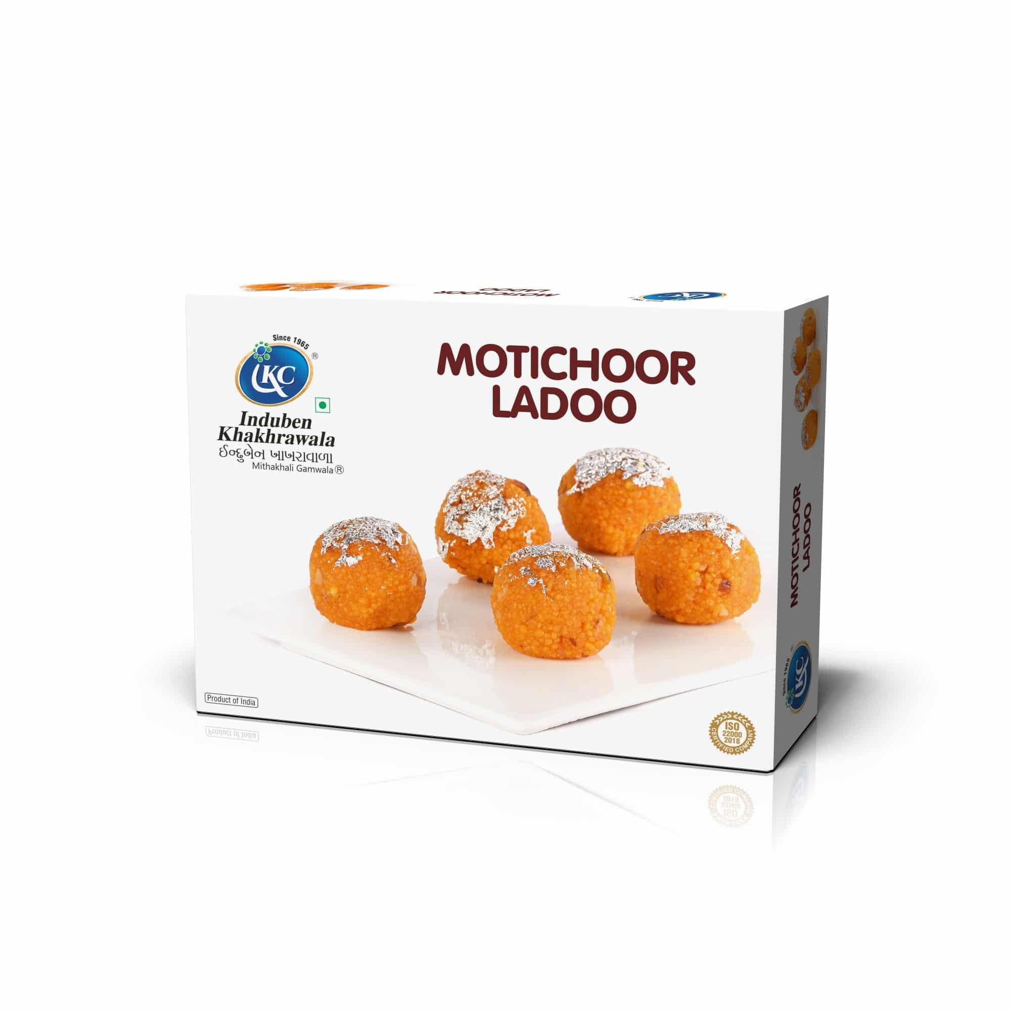 Buy Online Motichoor Laddoo | Induben Khakhrawala | Traditional Indian Sweets From Induben, Get Latest Price & Recipe Of Motichoor Laddoo Sweets.