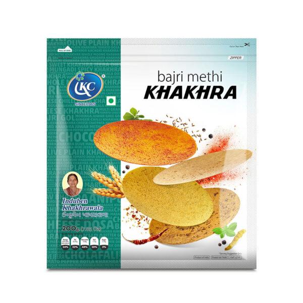 Buy Online Bajri Methi Khakhra   Induben Khakhrawala   Get Latest Price & Recipe Of Bajri Methi Khakhra.