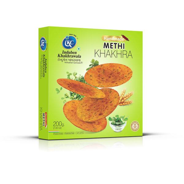 Buy Online Handmade Methi Khakhra Khakhra | Induben Khakhrawala | Get Latest Price & Recipe Of Handmade Methi Khakhra Khakhra.